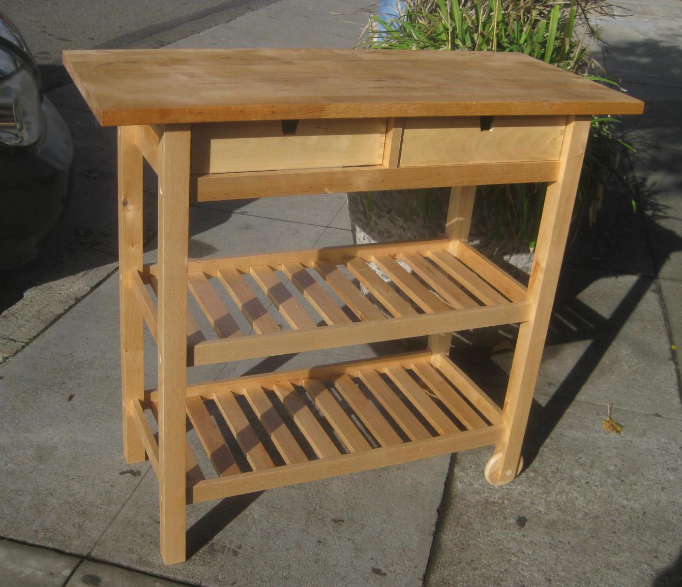 UHURU FURNITURE & COLLECTIBLES Forhoja Kitchen Cart $60