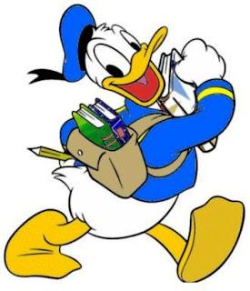 mojado en dibujo dibujos coloreados de pato donald para imprimir