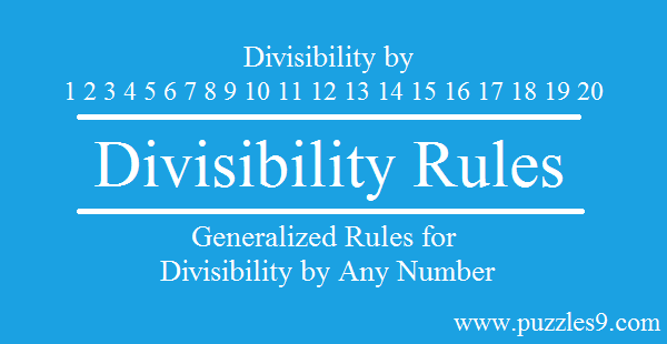 Generalized divisibility rules by any number - Aptitude Tricks