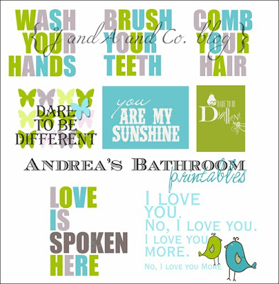Free printables: Sweet messages to make your bathroom more welcoming