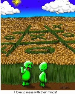 aliens funny crop circles