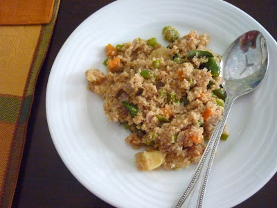 Samba Goduma Vegetable Upma