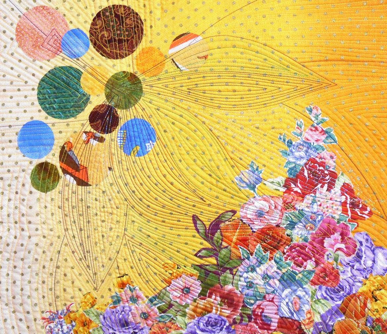 Obra têxtil de Benigna Rodrigues e Wagner Vivan
