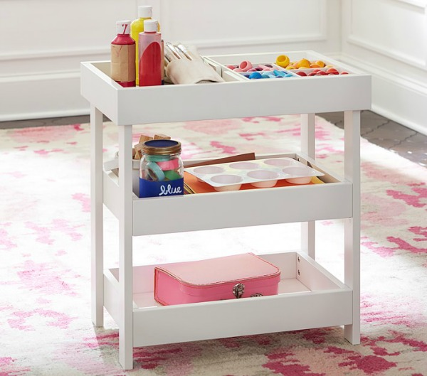 Pottery Barn Kids art cart