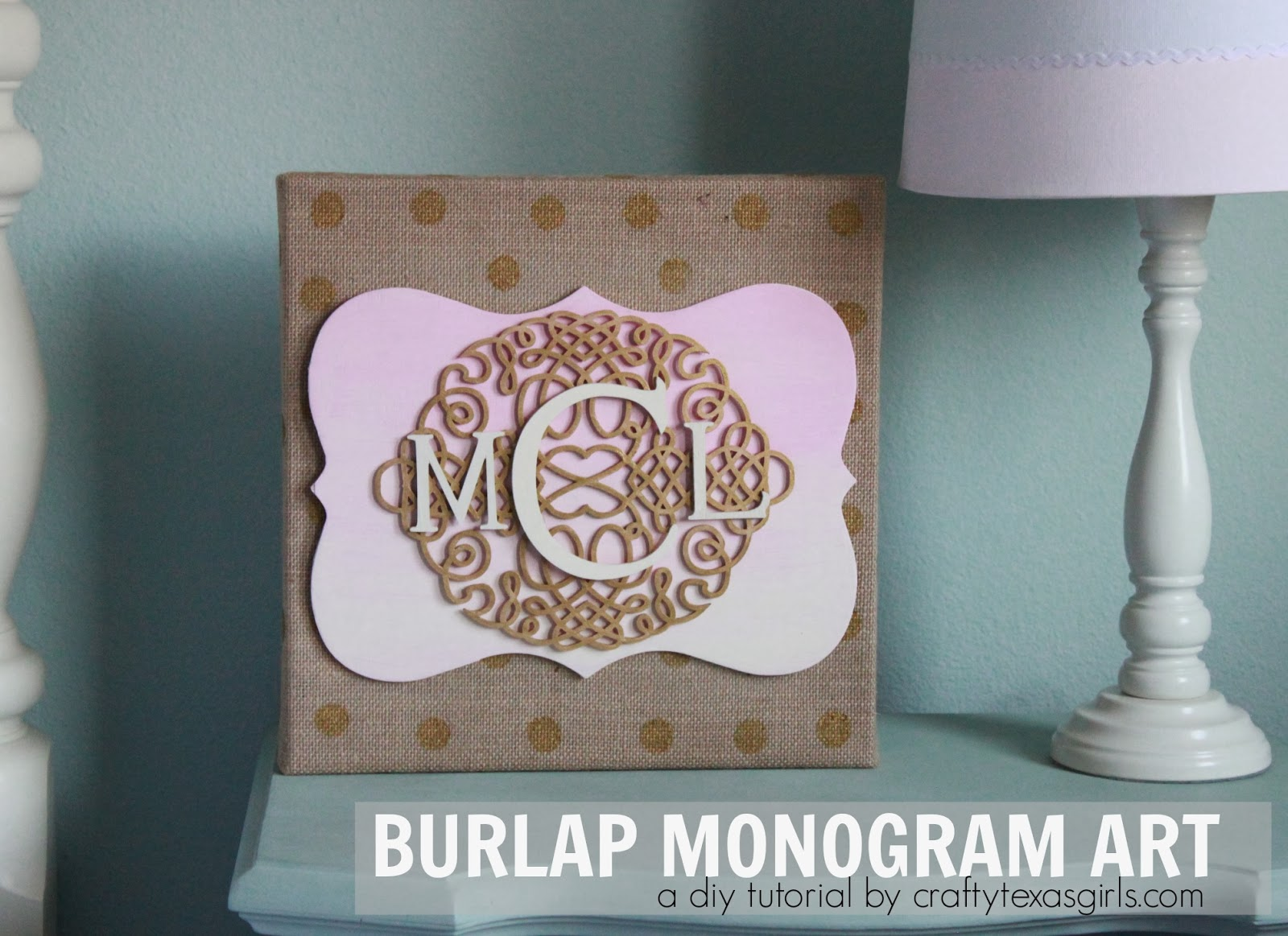 Burlap Monogram Art Craftytexasgirls