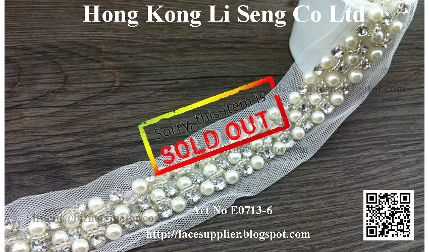 "Beading Organza Lace Trims Manufacturer Wholesaler Supplier -"" Hong Kong Li Seng Co Ltd """