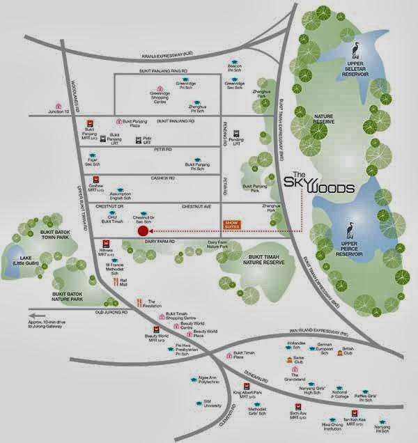 The Skywoods @ Dairy Farm Location Map