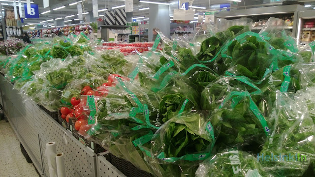Vegetables at a Finnish supermarket
