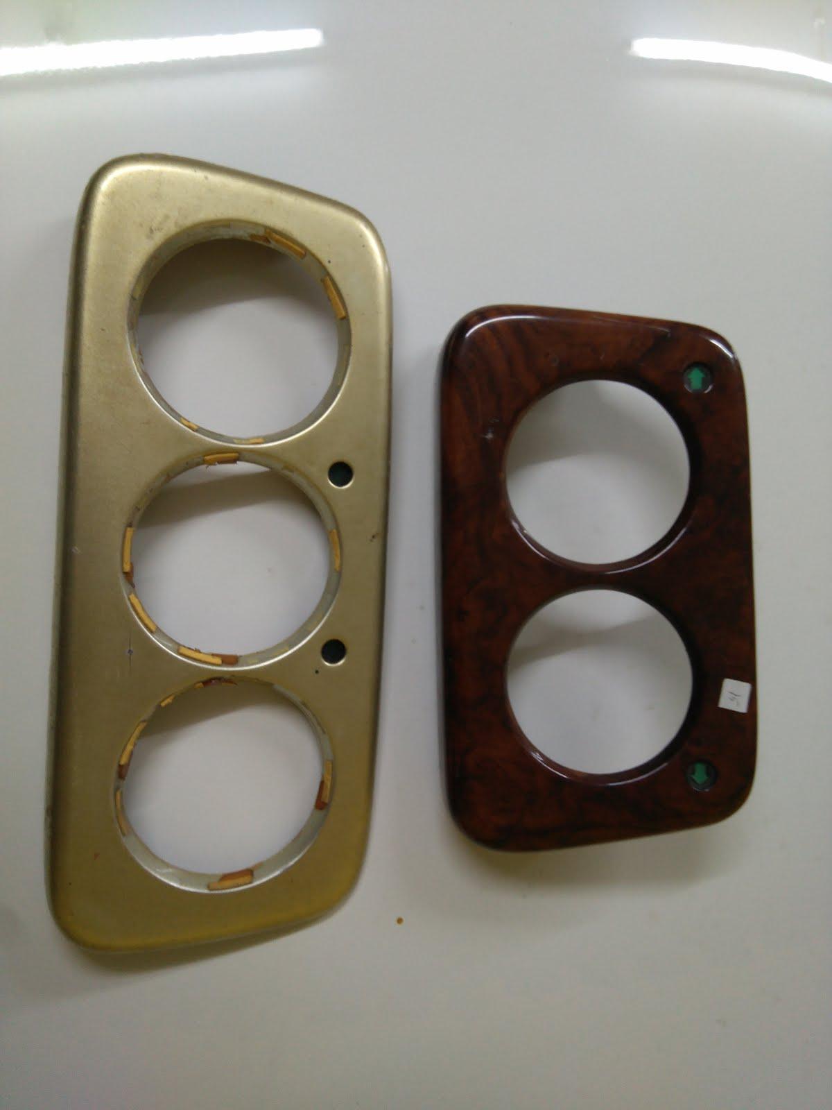 Tábua para tablier 2 e 3 manómetros