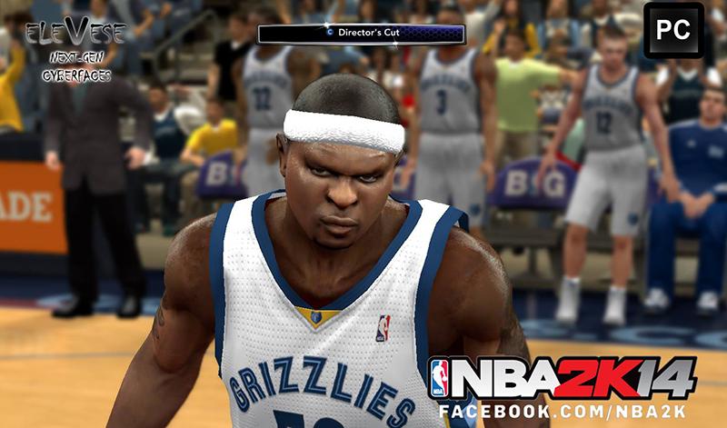 NBA 2K14 Zach Randolph Cyberface Patch