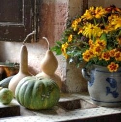 the art of squash in gourds and flowers