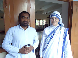 Fr. Varghese visits with Sr. Mary Prema