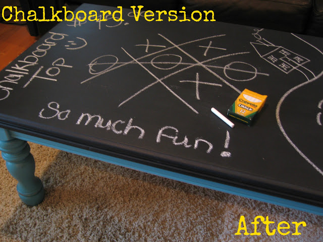 Our Whiskey Lullaby: DIY Chalkboard Coffee Table
