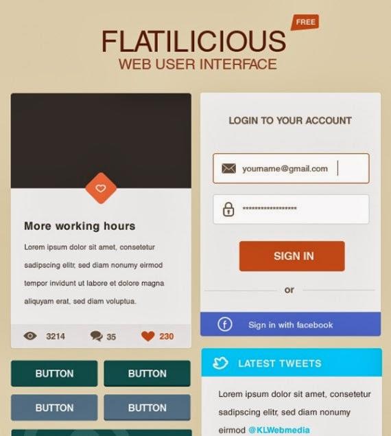 Flatilicious User Interface Free