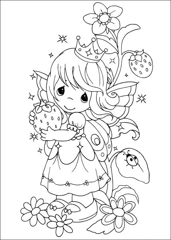 Princess Precious Moments Coloring ~ Child Coloring