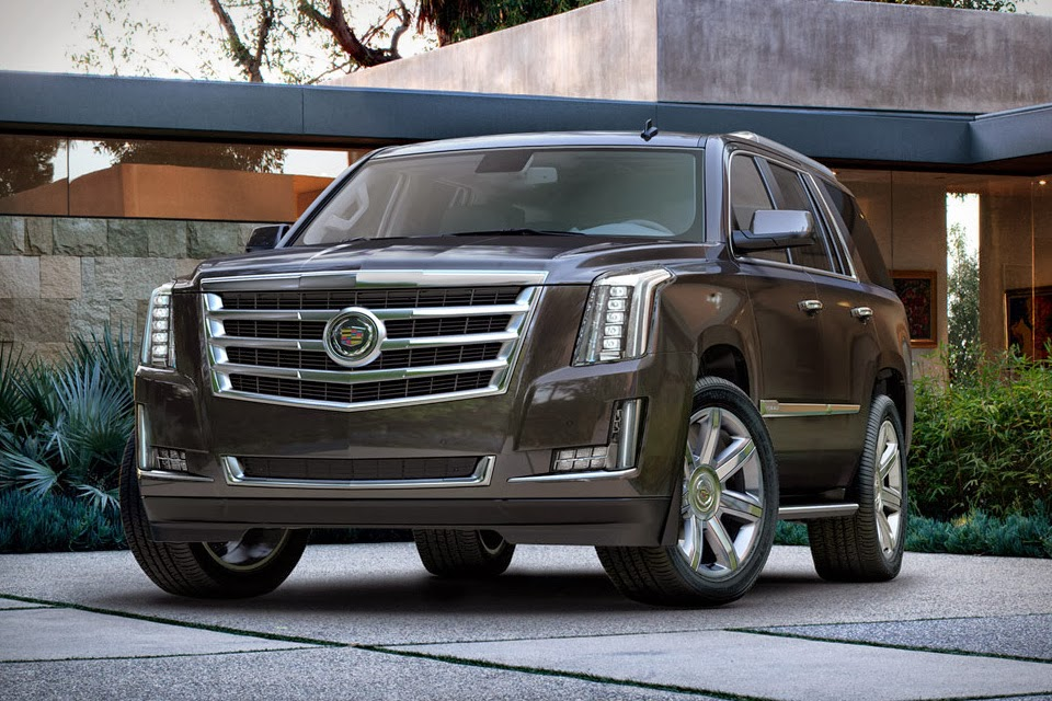 The new 2015 Cadillac Escalade luxury SUV ising to showrooms in