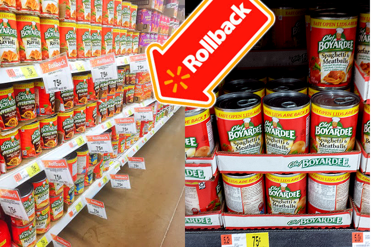 Chef Boyardee cannd meals are on rollback for just $.75 now through March 16, 2015! #LowPricedMeals #ad