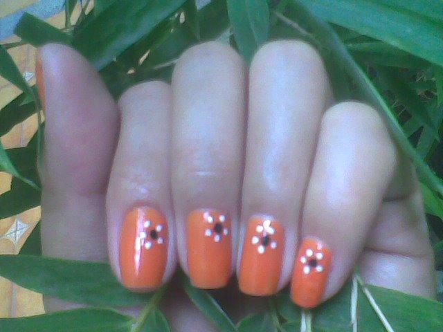 Orange Nail Art Designs - Nailartdesignsidea.info via