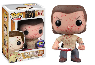 San Diego Comic-Con 2013 Exclusive The Walking Dead Pop! Vinyl Figures by Funko - Blood Splattered Prison Yard Rick Grimes