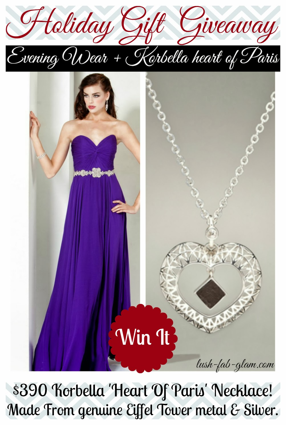 Last Chance To Enter To Win The Korbella Heart Of Paris Necklace $390 Value!