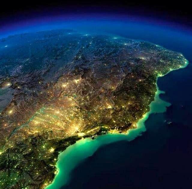 Brasil, vista do espaço
