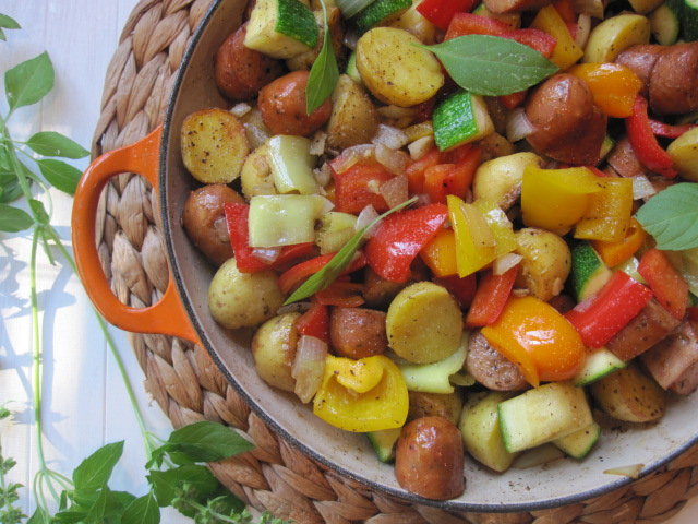 Stirring the Pot: Summer Vegetables with Sausage and Potatoes
