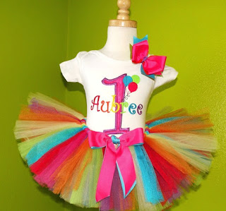 Circus Balloons Girls Birthday Tutu Outfit