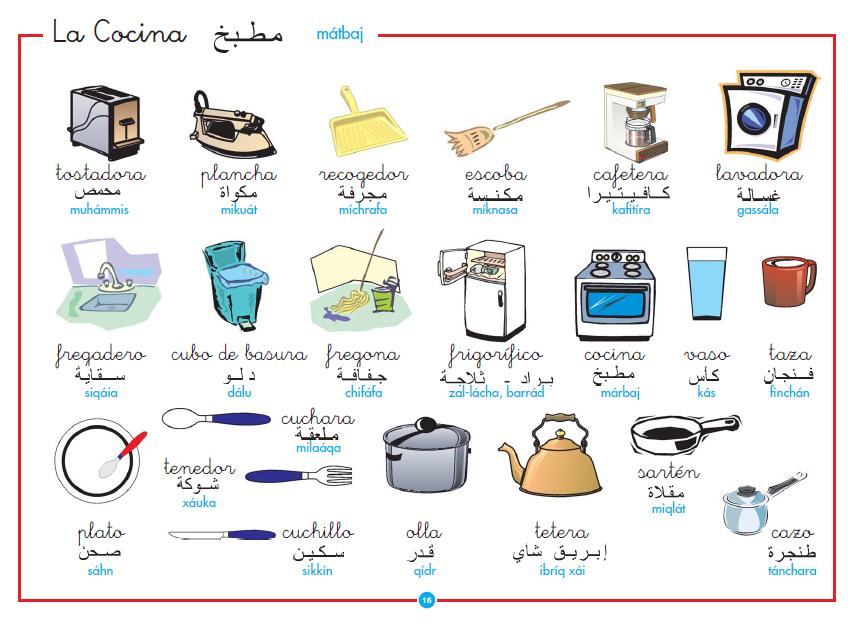 Islam para ni os para aprender arabe la cocina de las for Cosas de cocina