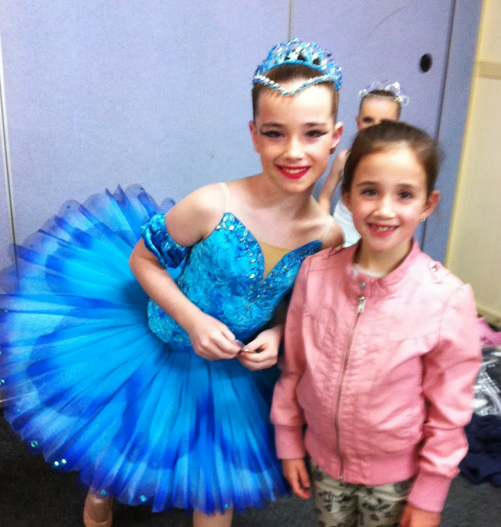 Ella M (and her little sister) in her airbrushed tutu