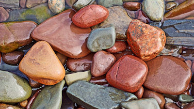 Piedras mojadas en el río - Wet stones at the river