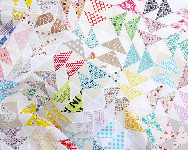 Double Flying Geese Quilt | Red Pepper Quilts 2015