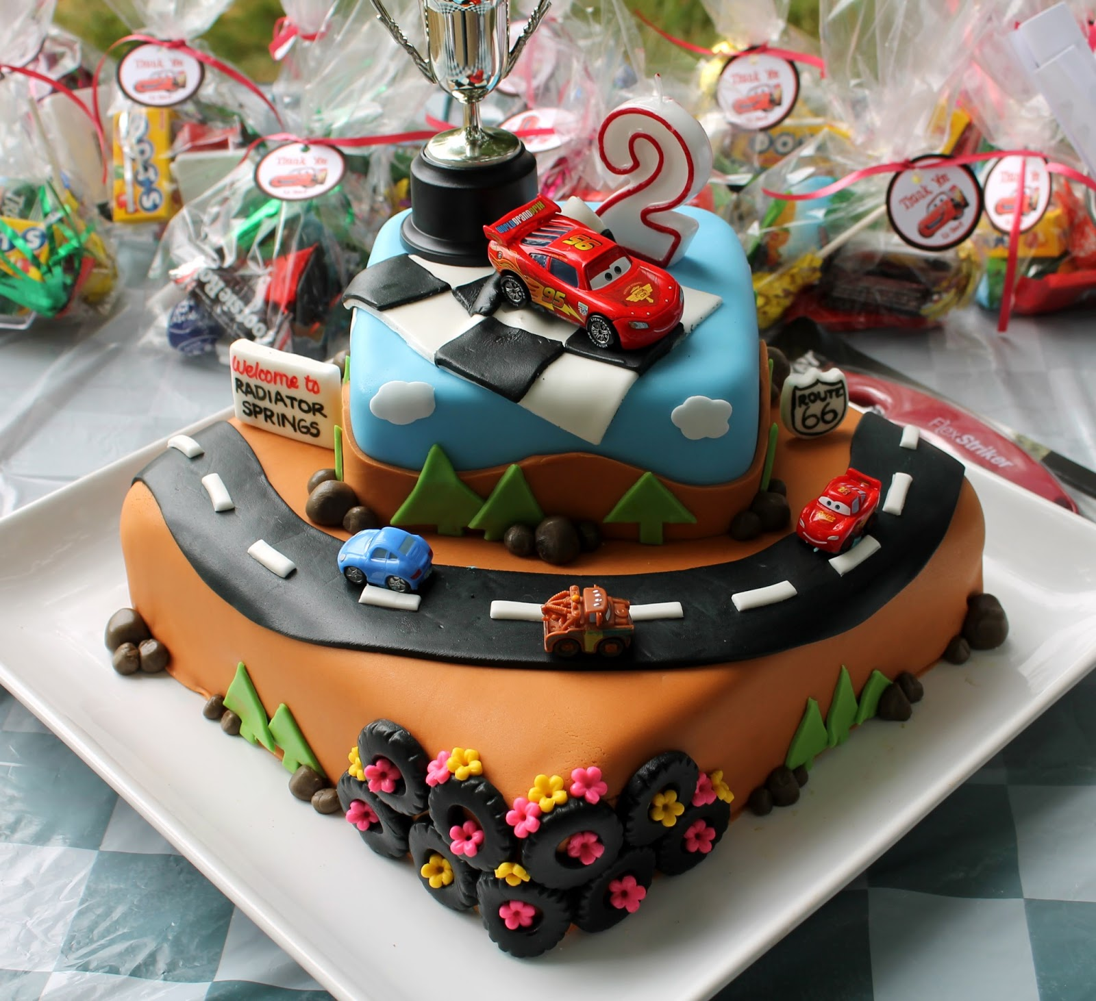 Sarah Leavitts Cakes Masons 2nd Birthday Cake Cars Theme