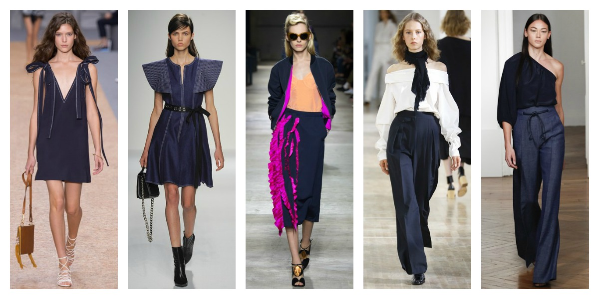 paris fashion week ss16 navy trend report pfw
