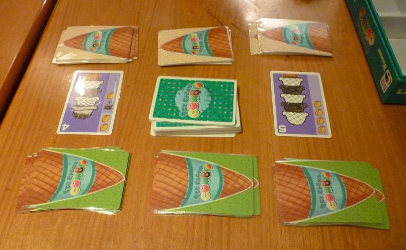 Hiews boardgame blog ice cream combo during the game you are constantly shuffling scoops around to try to make ice creams that match one of the orders at the centre of the table ccuart Image collections