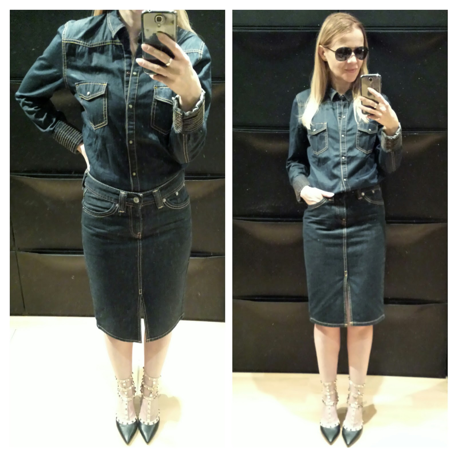 into_the_blue_may_colours_oufits_greycatte_levis_denim_pencil_skirt_zara_shirt_studded_heels.jpg