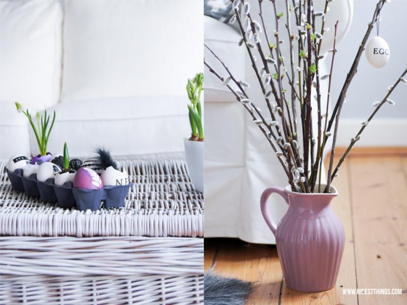 diy 5 ideen f r bemalte ostereier in schwarz und weiss nicest things. Black Bedroom Furniture Sets. Home Design Ideas