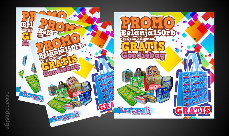 brosur b project butik daur ulang - Jasa Desain Grafis Jogja