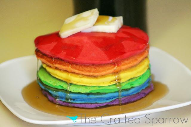 Rainbow Pancakes Pinterest Rainbow pancakes