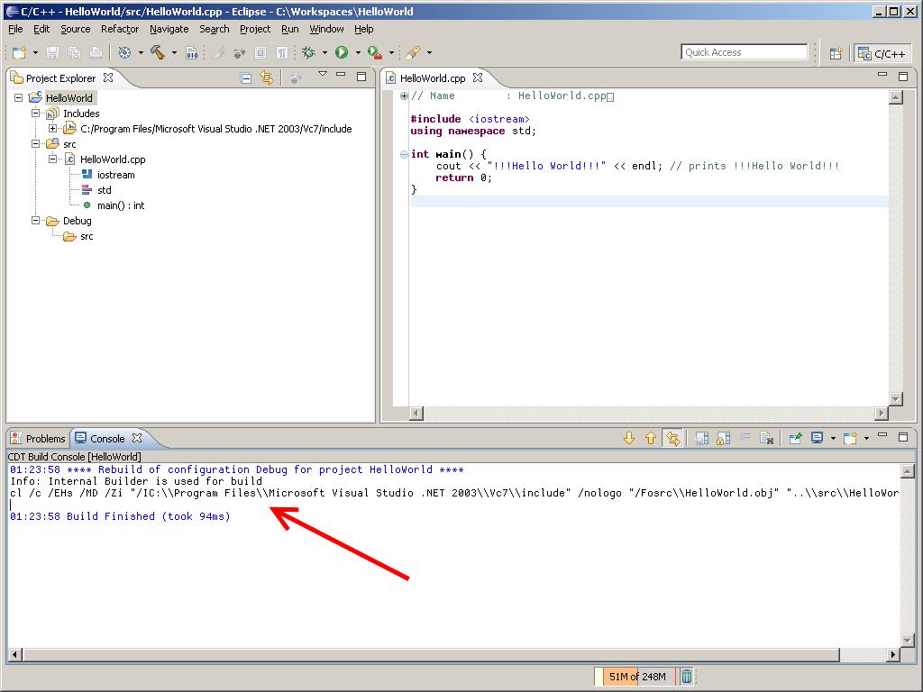 Eclipse C Build Environtment Path