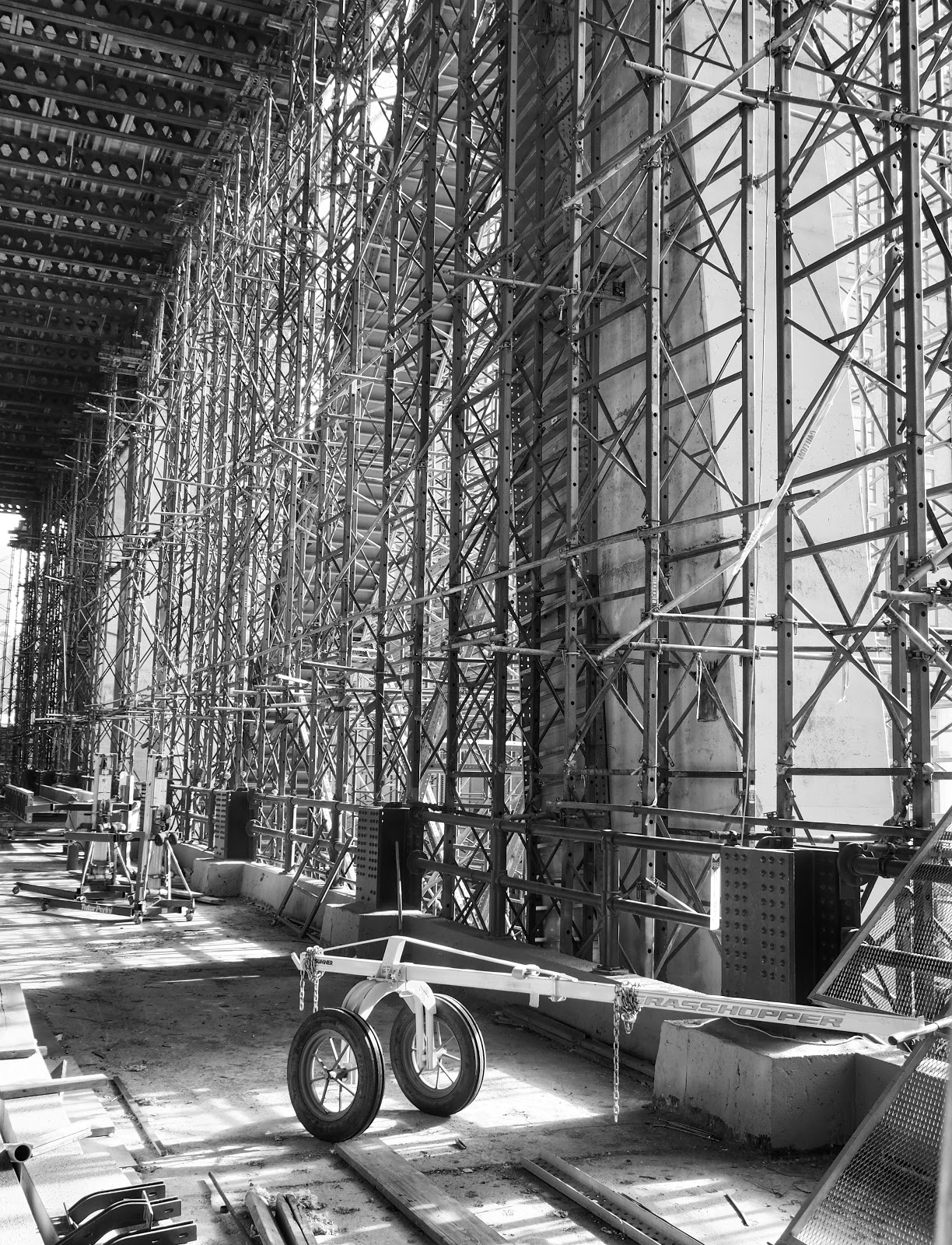 Tinker Toys in Black & White  #tinkertoys #construction #nyc #hudsonyard 2014