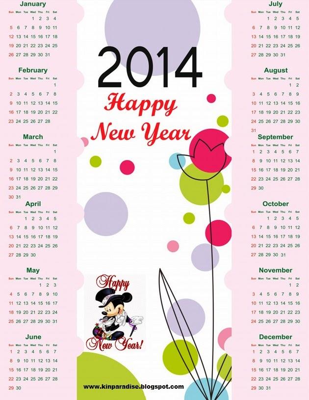 Kin Paradise: New Year Calander 2014
