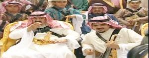 عبدالعزيز بن فهد وخادم الحرمين الشرفين