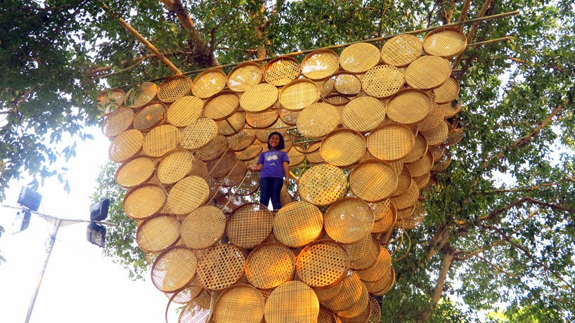 Casa en Arbol con Bambu Tejido