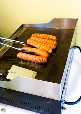 Freshly cooked hotdogs by Schmidt's