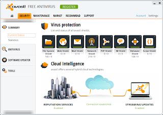 ����� ��������� ����� ������ avast! Free Antivirus 2014 9.0.2001