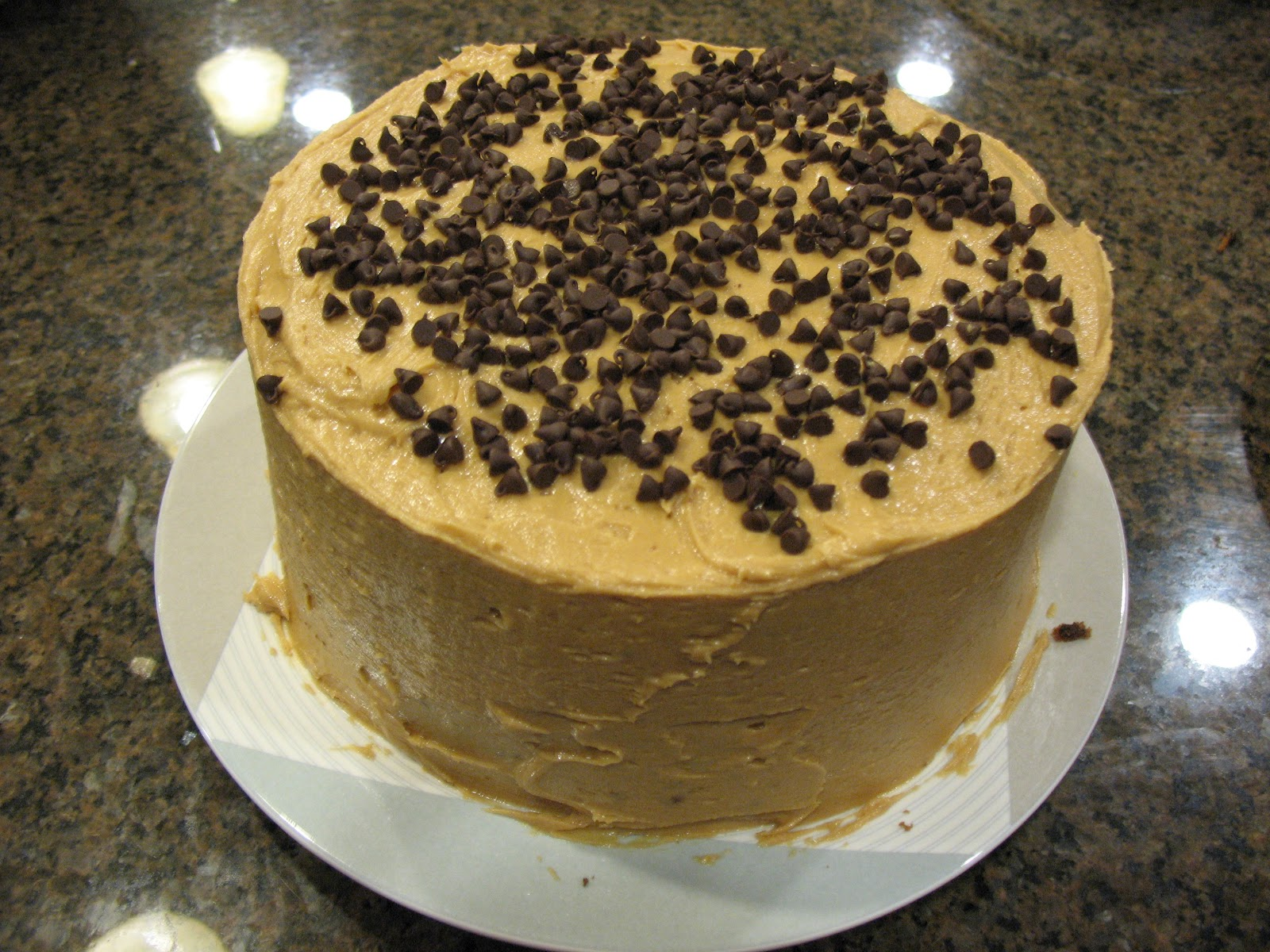 ... Cake Yourself: Banana-Chocolate Chip Cake with Peanut Butter Frosting