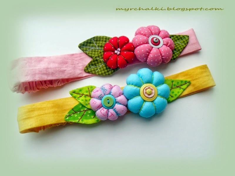 цветочные повязки на голову своими руками