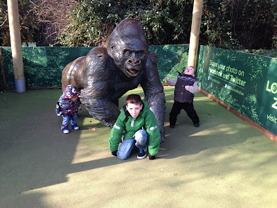 Guy the Gorilla statue at ZSL London Zoo