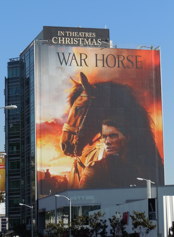 War Horse movie billboard