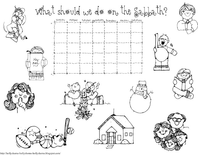 Coloring Pages Keep The Sabbath Day Holy Freecoloring4u Com Sabbath Coloring Pages